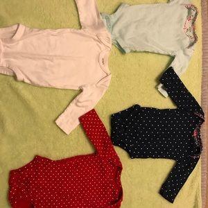 Girls 3 month old long sleeve onsies